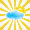 Sun avec le nuage Photos stock