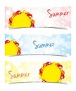 Sun Banners Royalty Free Stock Photo