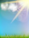 Sun on a blue sky. Stock Images