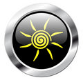 Sun button Royalty Free Stock Photos