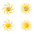 Sun cartoon Stock Photos
