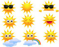 Sun cartoon character Royalty Free Stock Photography