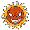 Sun cartoon vector illustration of Royalty Free Stock Photos