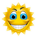 Sun character smiling Royalty Free Stock Images
