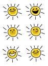 Sun characters Royalty Free Stock Photo