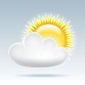 Sun with cloud floats in the sky Royalty Free Stock Images