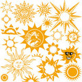 Sun Collection Royalty Free Stock Photo