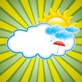 Sun con las nubes Fotografía de archivo libre de regalías