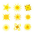 Sun creative icons Stock Photo