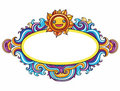 Sun curly frame Royalty Free Stock Photo