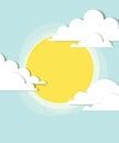 Sun dans les nuages Photographie stock libre de droits