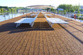 Sun Deck, Riverboat, Rhone River, France Royalty Free Stock Photo