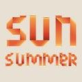 Sun design Royalty Free Stock Photo