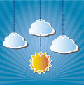 Sun design over sky background vector illustration Stock Images