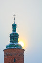 Sun on the dome of the church Royalty Free Stock Photo