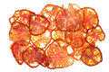 Sun dried dried tomatoes closeup on a white background Stock Image