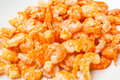 Sun dried salted prawn stock photos Royalty Free Stock Photography