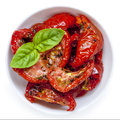 Sun Dried Tomatoes Isolated Royalty Free Stock Photo