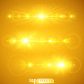 Sun effects collection vector illustration Royalty Free Stock Photography
