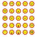 Sun emoticons image