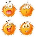Slnko tvárový výrazy