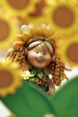 Sun flower doll Royalty Free Stock Photo