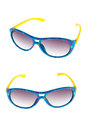 Sun glasses set isolated over the white background Royalty Free Stock Photo