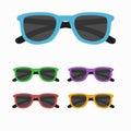 Sun glasses set vector illustration. Royalty Free Stock Photo