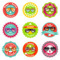 Sun glasses summer sale labels Royalty Free Stock Photo