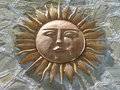 Sun God Against Stone Royalty Free Stock Photo
