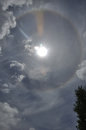 Sun halo a degree surrounds the over westland south island new zealand Stock Images