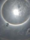 The Sun halo, sun corona Royalty Free Stock Photo