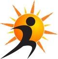 Sun Human Logo