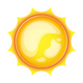 Sun icon Stock Photo