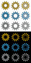 Sun icon and logo elements Royalty Free Stock Images
