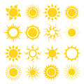 Sun icon set Royalty Free Stock Photo