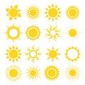 Sun icon set Royalty Free Stock Photo
