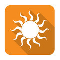 Sun icon with shadow
