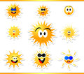 Sun icon summer with smile Royalty Free Stock Photography
