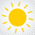 Sun icon vector illustration. Sun with ray symbol. Simple business concept pictogram on isolated background. Royalty Free Stock Photo