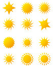 Sun icons Royalty Free Stock Photography