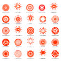 Sun icons. Design elements set. Royalty Free Stock Photo