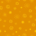 Sun icons seamless pattern with Stock Images