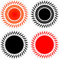 Sun icons set of vector Royalty Free Stock Photos