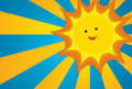 Sun  illustration Royalty Free Stock Photo