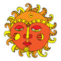 Sun illustration Stock Image