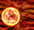 Sun or lava planet Stock Photo