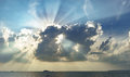 Sun light through the clouds Royalty Free Stock Photo