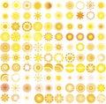 Slnko označenie organizácie alebo inštitúcie dizajn prvky