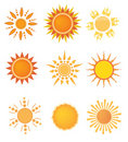 Sun logo set Royalty Free Stock Photography